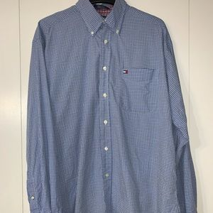 Vintage 1999 Mens Tommy Hilfiger Dress Shirt Large